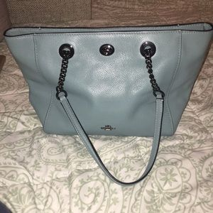 Turquoise coach bag barely used in great condition